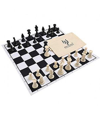 "HOLYKING Chess Set Board Game Large Travel Set 19""  19"" Educational Learning Developmental Toys for Kids and Adults"