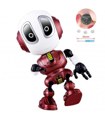 Blossm Robot Toy for Kids Talking Robot Toys Repeats Your Voice, Colorful Flashing Lights and Cool Sounds Robot Mini Robot Travel Toy for Kids Boys Girls Gift. (red)