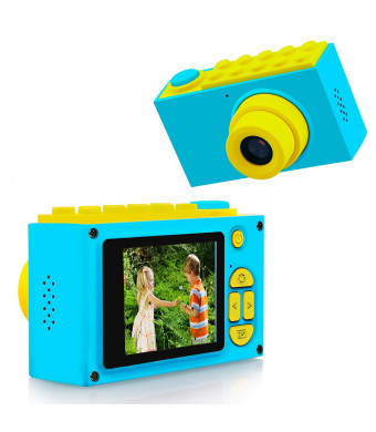 "ShinePick Kids Digital Camera Mini 2"" Screen Children's Camera 8mp HD Digital Camera with Silicone Soft Cover and 257M Sd Card(Blue)"