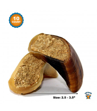 123 Treats | Filled Cow Hooves - Delicious Peanut Butter, Beef and Cheese with Bacon Flavors | Natural Dog Stuffed Beef Hoof Snacks