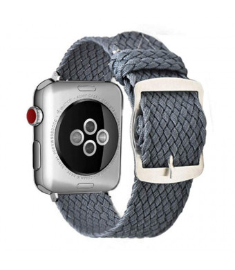 38mm 40mm Grey Compatible for Apple Watch Band Nylon Gray iWatch Band Series 4 Series 3 Series 2 Series 1 Women Men