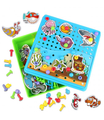 Kidcheer Preschool Puzzle Toys Set, 115 PCS Board Games Best Gift for Boys and Girls