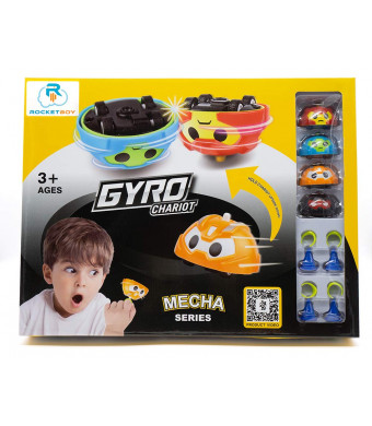 Gyro Car Battling Tops Game by Rocket Boy | Battle Tops, Spinning Top, Spinning Toy Car, Top Toys | Entertainment, Fun and Learning - 13pc Battle Top Play Set