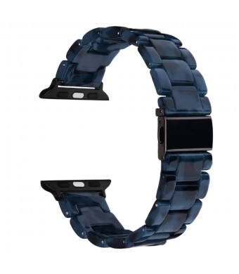 Mobile Advance Resin Band Bracelet for Apple Watch Series 4, 3, 2, 1 (Navy, 42mm/44mm)