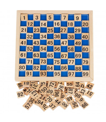 K Kwokker Hundred Board Montessori 1-100 Consecutive Numbers Counting Educational Game Toy with a Storage Bag for Kids