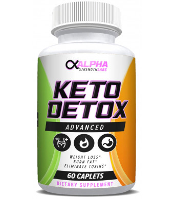 Keto Detox Cleanse Weight Loss - Colon Cleanser - Flush Excess Waste - Formulated for Women and Men - All-Natural Ingredients - 60 Caplets