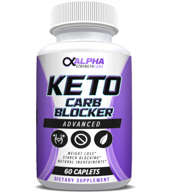 Keto Carb Blocker Weight Loss - Supplements for Women and Men - Diet Pills to Burn Fat Fast - All-Natural Ingredients - 60 Caplets