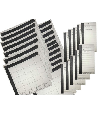 Football Squares Boards and 10 Line Strip Card Combo Includes (20) 25 Square Football Sheets Boards and (10) 10 Line Football Strip Cards, Perfect for Football Pools, Fundraising