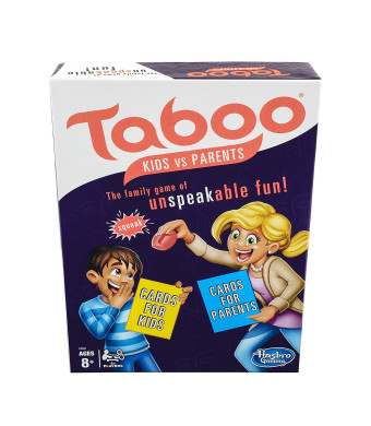 TABOO E4941 Kids vs. Parents Family Board Game Ages 8 and Up