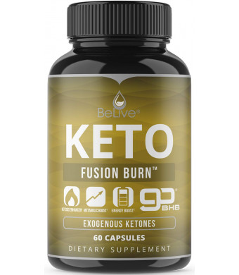 Keto Pills for Daytime   Patented 2000MG BHB Formula Diet Pill with Pure Beta-Hydroxybutyrate (goBHB) Exogenous Ketones and Avocado Powder   Perfect for Fast Ketosis and Energy   60 Caps