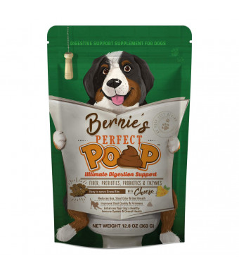 Bernie's Perfect Poop: Ultimate Digestion Support - Fiber, Prebiotics, Probiotics and Enzymes - Optimize Stool, Immune System and Overall Health - Convenient 4 in 1 Formula - Relieves Constipation