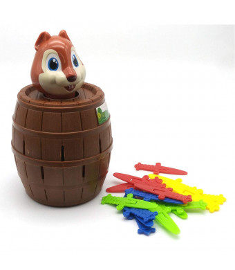 Squirrel Roulette Pop Up Game Toys Novelty Toy Tricky Squirrel Barrel Game for Kids (Squirrel)