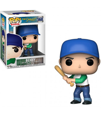 Funko Benny: The Sandlot x POP! Movies Vinyl Figure and 1 PET Plastic Graphical Protector Bundle [#568 / 29601 - B]