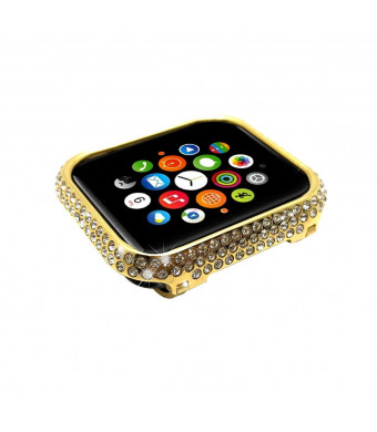 Bling-Bling Crystal Diamond Watch Bezel Cover Compatible with Apple Watch Series 4 40MM Generation (Gold,40mm)