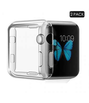 BelizeKo 40mm Apple Watch Screen Protector Case,Clean iWatch Case Both for Apple Watch Case Series 3, Series 2 [2 Pack]