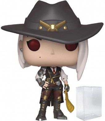 Funko Pop! Games: Overwatch - Ashe Vinyl Figure (Includes Pop Box Protector Case)