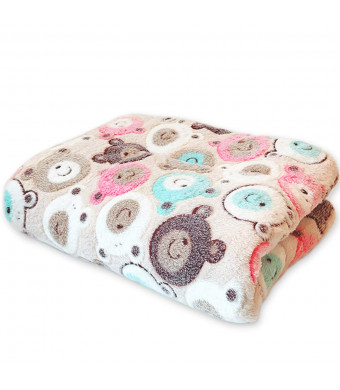 Sunwod Premium Fluffy Flannel Pet Dog Blanket, Soft Warm Pet Throw Dogs and Cats Thickening Dual-Use Carpet Pad, Pet Blanket for Small Medium Cats Dogs.