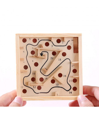 KILOTOY Labyrinth Puzzle Ball Maze Toys Board Games Travel Game, Improve Coordination Between Eyes and Hands, Great Gift for Kids and Adults.