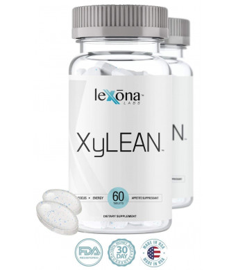 XyLEAN #1 Rated Diet Pills for Men and Women w/Clinically Proven Phase 2 Carb Controller Appetite Suppressant | Weight Loss Aid | Reduce Water Retention, Burn Fat, Increase Energy | 60 Count
