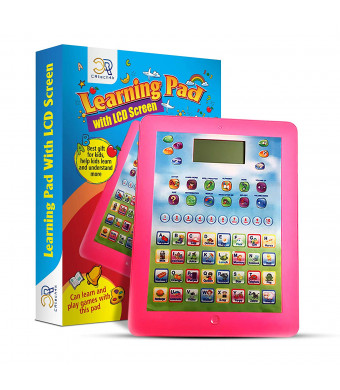 Kids Learning Toddler Tablet is Fun and Entertaining. My First Educational Smart Pad w/ LCD Screen will Learn ABCs, Math and Much More. This Pretend Baby Ipad Toy is for Boys and Girls 2 to 6 Year Olds.