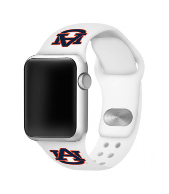 Affinity Bands Auburn Tigers Silicone Sport Band Compatible with Apple Watches - Band ONLY (White, 42mm/44mm)
