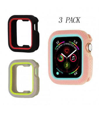 Applestore Compatible with Apple Watch Case 40mm, Soft Silicon Screen Protector Case Shockproof Protective Bumper Hard Cover Replacement for iWatch Series 4