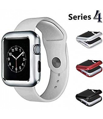 Josi Minea iWatch 4 [40mm] Aluminum Full Body [Front and Back] Magnetic Protective Cover Case - Shockproof and Anti-Scratch Shell Bumper Shield Guard compatible with Apple Watch Series 4 [ 40mm - Silver ]