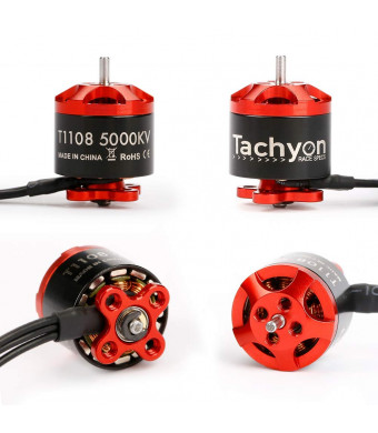 iFlight 4pcs Tachyon T1108 5000KV 2-4S Micro Brushless Motor for 90mm 100mm 110mm 120mm FPV Racing Drone Frame Micro Quadcopter Motors