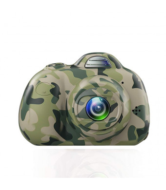 PerfectPromise Kids Digital Camera8MP Front and Back Camera 1080P HD Video Recorder Digital Camera for Children Girls Boys--Camo (TF Card Included)