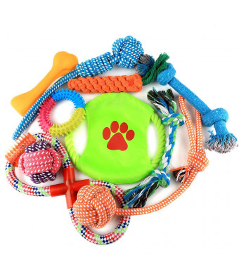 Love Pet Home Pets Toys - Dog Chew Toys Set, Interactive Durable Dog Squeaky Textured Chew Toy for Small Medium Dogs, Large Dogs and Cats - Nontoxic Toy and Clean Teeth.