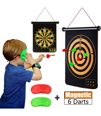 Safety Magnetic Dartboard Sets Double Sided Dart Board Bullseye Game for Kids Adults Family Carnival Birthday Party Games Indoor Outdoor Leisure Sports