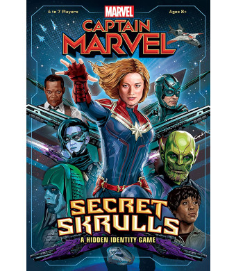 Captain Marvel: Secret Skrulls Card Game | Hidden Identity Game Featuring Marvel Universe Characters | Officially Licensed Avengers Captain Marvel Movie Board Game | Based on The Hit Card Game Bang!