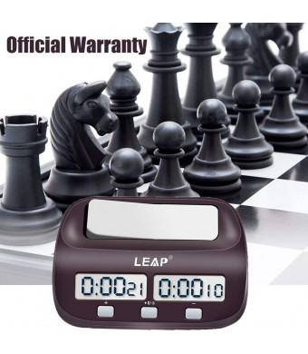 LEAP Digital Chess Timer Multifunctional Chess Clock for Board Games(Official Store)