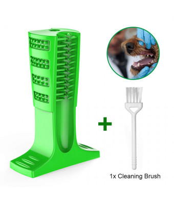 Enjoyee - US Dog Toothbrush Toy,Dog Toothbrush Natural and Long Lasting Rubber Material Dog Bite Resistant Chew Toys for Tooth Cleaning and Interactive Training Playing Teething Brush Pets Ora