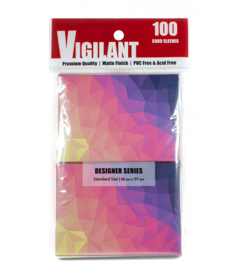 Vigilant Card Sleeves and Deck Protectors, 100 Card Sleeves, Standard Size, Premium Matte Finish, Designer Art Print (Dusk)