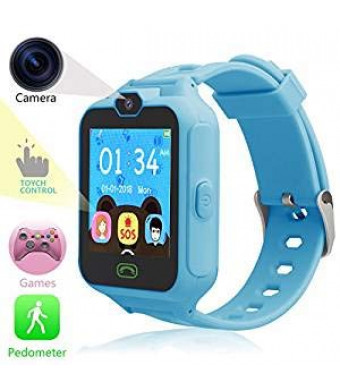 HSX_Z Phone Watch for Kids Smart Watch for Kids with Digital Camera Touch Screen, Phone Game Cool Toys Watch Gifts for Girls Boys Children Birthday Gifts WatchBlue