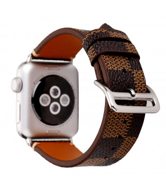 Bands for Apple Watch 38mm, Jimbird Soft PU Leather Replacement Strap Wrist Band with Silver Metal Adapter for Nike+, Series 3 Series 2, Series 1, Sport, Edition