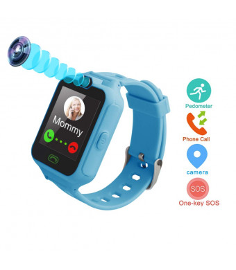 Ulela Kids Phone Smart Watch Games Watch for 4-15 Years Old Children Digital Watch Touch Screen Camera Anti-Lost Pedometer Clock Girls Boys Children Birthday Gifts Watch Children Learning Toys Blue