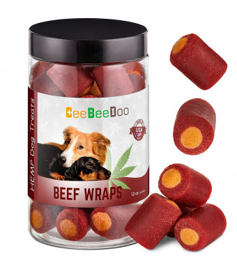 CeeBeeDoo Dog Treats with Hemp Oil for Pain Relief and Anxiety  Healthy and Tasty Hemp Treats for Dogs  Natural Pet Hemp Chews Dog Calming Treats for Small and Large Dogs