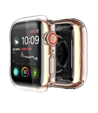 Yolin [2-Pack] Apple Watch Series 4 Screen Protector, iwatch Cover Soft Transparent TPU All-Around Protective Case for Apple Watch Series 4 40mm