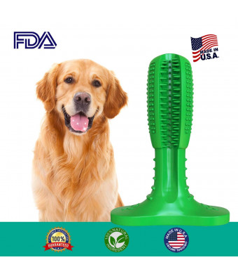 Dog Toothbrush Chew Toy Brushing Stick for Large Breed, Dog Teeth Cleaning Toys Use Nontoxic Natural Rubber Bite Resistant for Your Lovely Dogs.