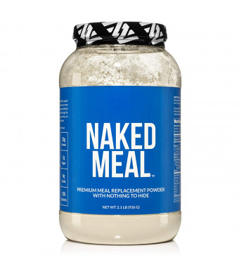 NAKED Meal - Healthy Meal Replacement Shakes For Weight Loss or Workout Recovery - Low Carb, Keto Friendly, No Soy, GMO or Gluten - Pre and Probiotics For Gut Health - 2.1 LBS, 26 Servings