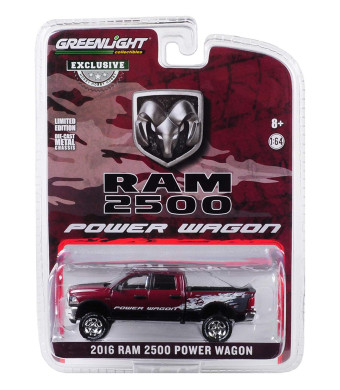 2016 Dodge Ram 2500 Power Wagon Pickup Truck Delmonico Pearl Red Hobby Exclusive 1/64 Diecast Model Car by Greenlight 29981