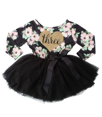 Grace and Lucille 3rd Birthday Dress (Long Sleeve)