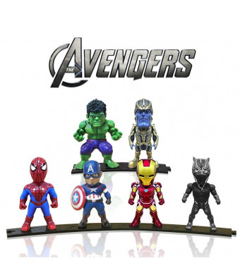 Action Figures, Anime Figures, Mini Action Figures for Boys, 6 Pack Hero Series Set Figures with Bases, PVC Figure Doll with 6 Popular Classic
