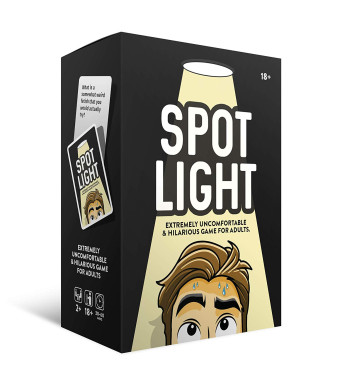 Spotlight Card Game | Make Game Night and Parties Fun and Memorable | Funny Party Game for Adults | 110 Cards with Creative Prompts and Challenging Questions | Best Question Cards for Drinking Games