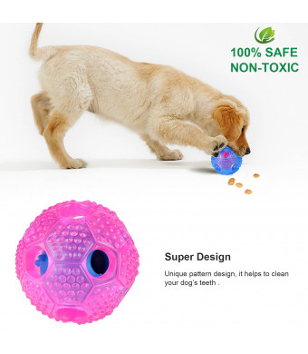BAODATUI Interactive Dog Toy - IQ Treat Ball Toys for Small Medium Large Dogs Durable Chew Ball