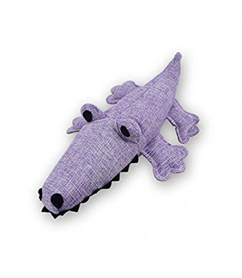 Pet Dog Squeak Toy Cotton Linen Cute Crocodile Shape Teeth Clean Toys Molars Sound Dog Toys Lntelligence Linen Dog Toy for Small Medium Dog Doggie Puppy Pup Cat