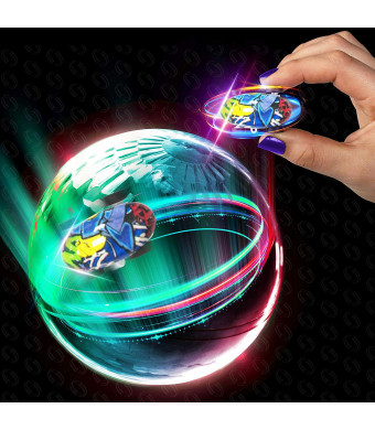 Alagoo Micro Racers Car Toy, Mini High Speed Car Toy Stunt RC Car 360 Rotating Climber Cars with LED Light Up Glow in The Dark Cars with Ball Spinner and Keychain Gift for Kids (Colorful)