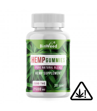 Maximum Strength Hemp Oil Gummies - 2500mg per Bottle - 84MG per Gummy - Pain Relief, Stress, Anxiety, Inflammation*